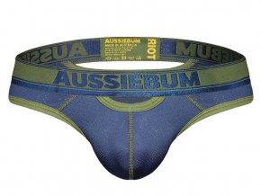 prodyšné slipy z mikrovlákna AussieBum RIOT Brief Navy1