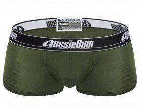 Pánské Push up boxerky AussieBum s kapsou Wonder Jock WJ Air Hipster Army1