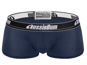 Pánské Push up boxerky AussieBum s kapsou Wonder Jock WJ Air Hipster Navy1