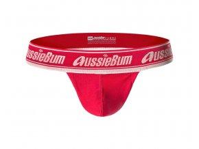 Samodržící bezešvé prádlo AussieBum SPORTSCUP Red1