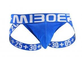 Sexy Jockstrap MIBOER s pohodlnou kapsou - Modrá (Barva Modrá, Velikost S, Velikost dle značky (74-80cm))