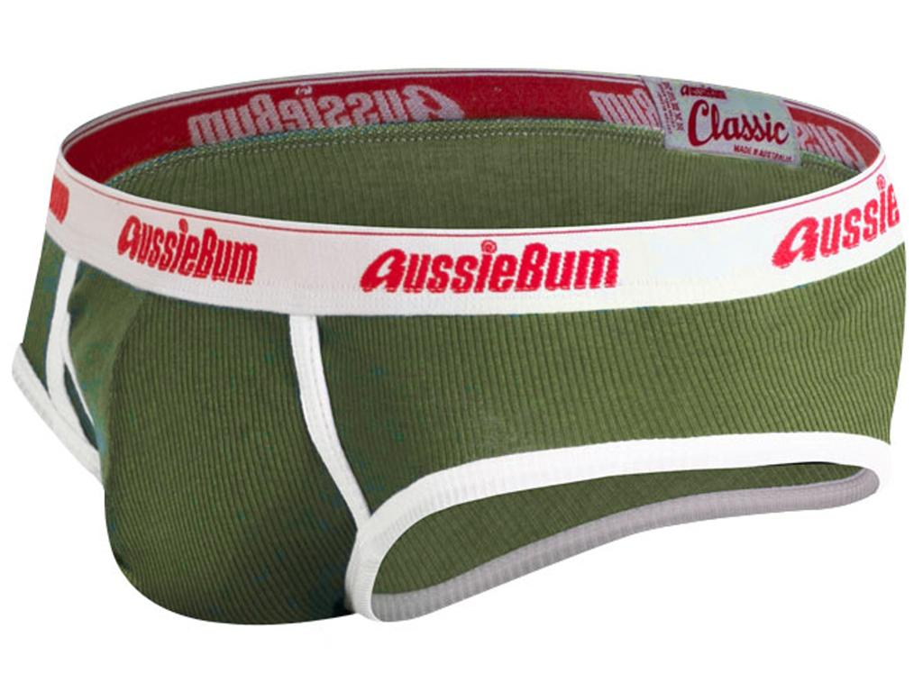 AussieBum ★OFFICIAL★ Slipy AussieBum Classic Original Army Barva: Army, Velikost: M, Velikost dle značky: Pro obvod pasu (80-85cm)
