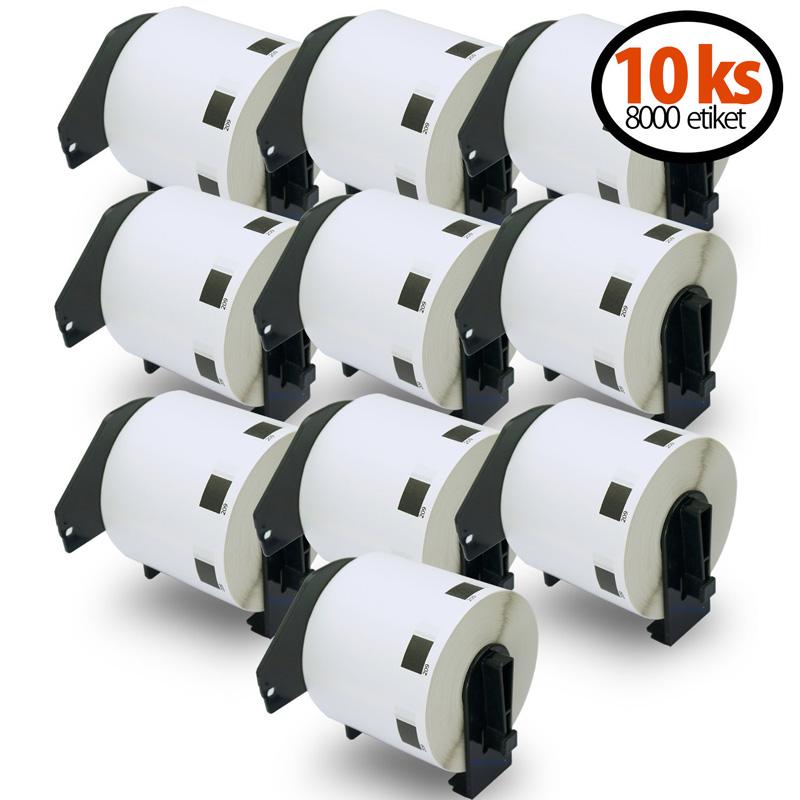 DK11209 kompatibilní papírové samolepící štítky / etikety pro BROTHER DK-11209 62mm x 29mm, Velikost prstenu: 10ks role (8000 štítků) SLEVA 20% + VZOREK ZDARMA 10KS ADRESNÍCH ŠTÍTKŮ 102MM X 152MM