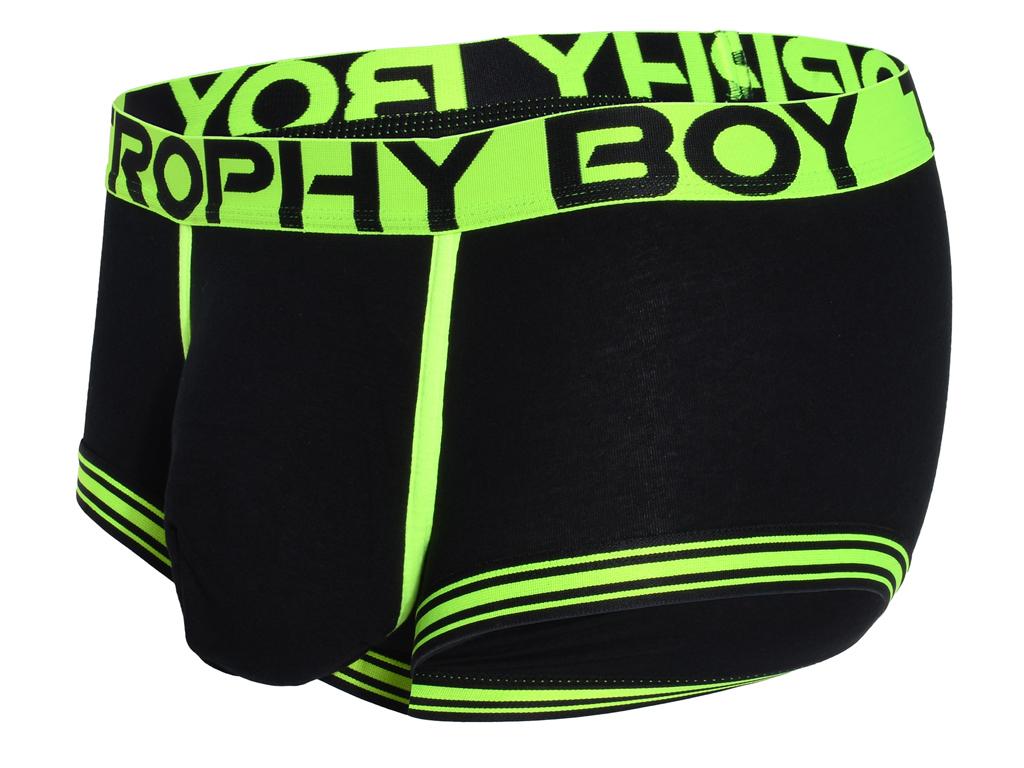 Trophy Boy Boxerky ANDREW CHRISTIAN 91793 Black Barva: Černá, Velikost: L