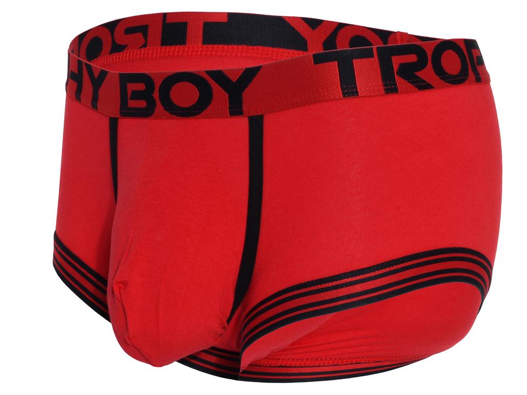 Trophy Boy Boxerky ANDREW CHRISTIAN 91793 Red Barva: Červená, Velikost: L