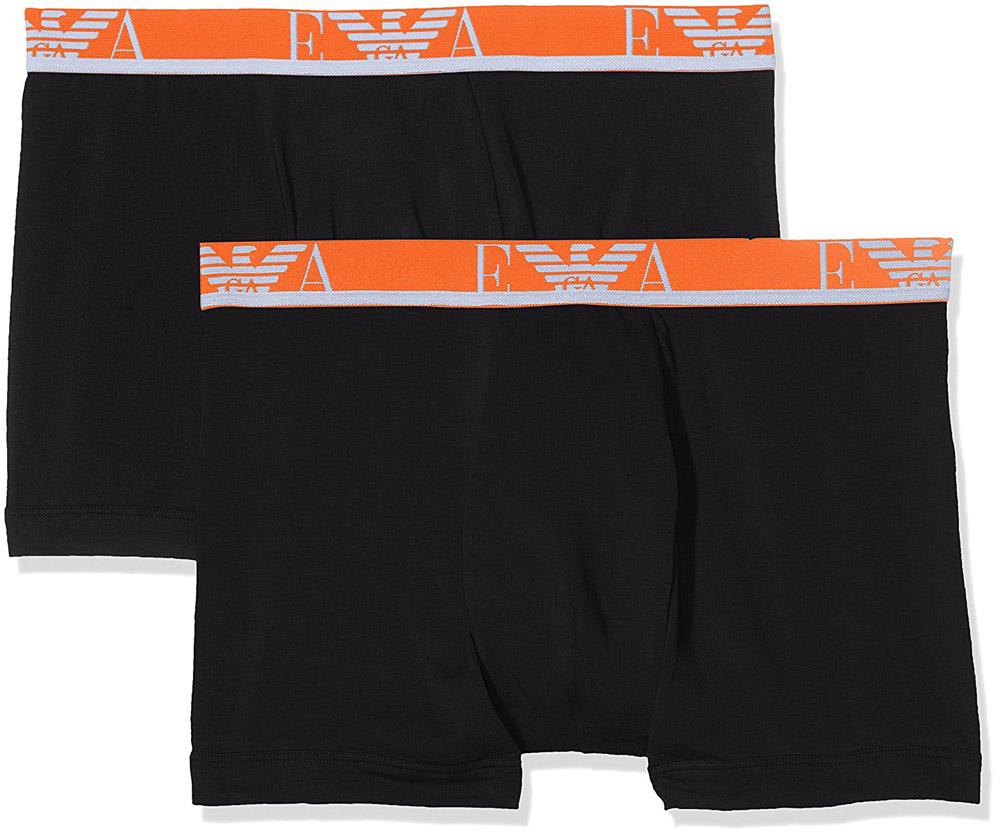 EMPORIO ARMANI UNDERWEAR EA7 boxerky 2 pack Barva: Černá/oranžová, Velikost: L, Velikost dle značky: Pro obvod pasu (87-92cm)