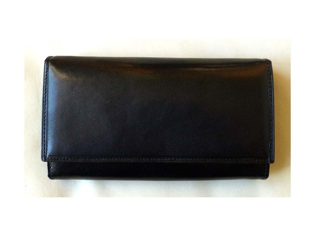 Peněženka kožená černá