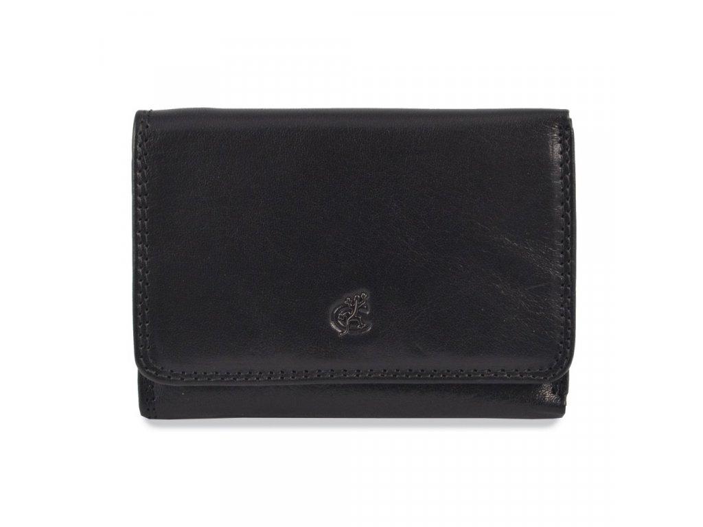 Cosset Komodo dámská černá kožená peněženka