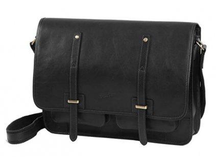 Jednokomorová kožená taška na tablet Gerard Henon 5352 černá