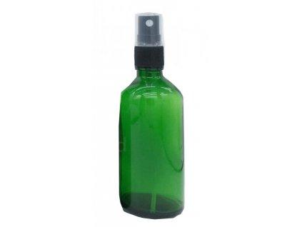 Skleněná lahvička, ZELENÁ , 50ml + uzávěr rozprašovač