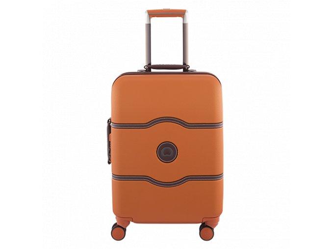 Delsey Chatelet Hard+ slim kufr 55 cm oranžový