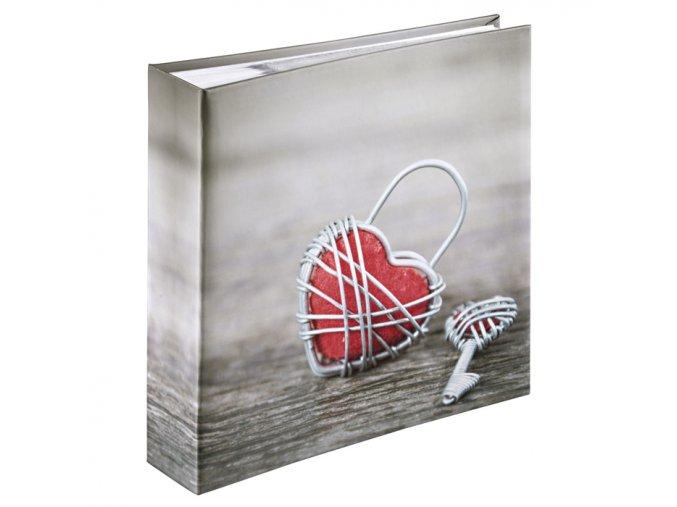Hama album memo RUSTICO METAL HEART 10x15/200, popisové pole