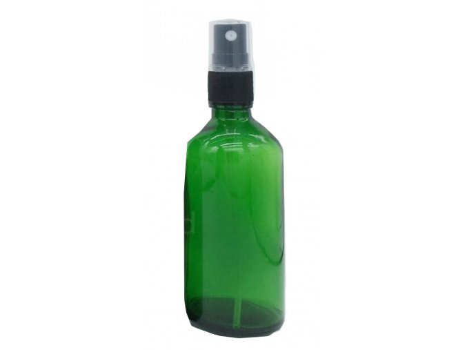 komplet sklenena lekovka zelena 100ml uzaver rozprasovac