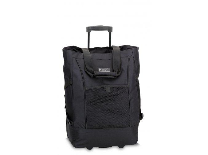 Nákupní taška Punta wheel černá
