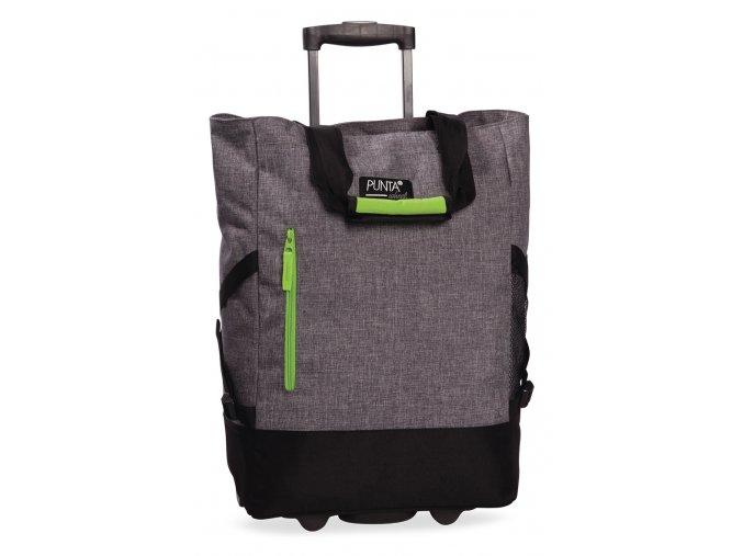 PUNTA wheel Nákupní taška na kolečkách 10183-1700 šedá melír