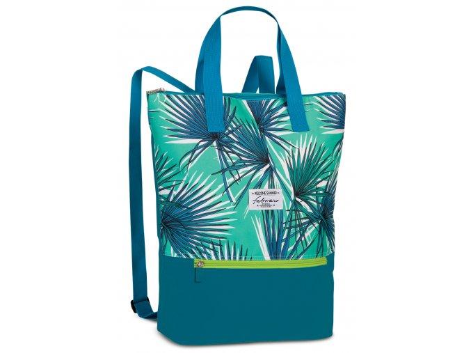 Plážový batoh Fabrizio zelený tropical