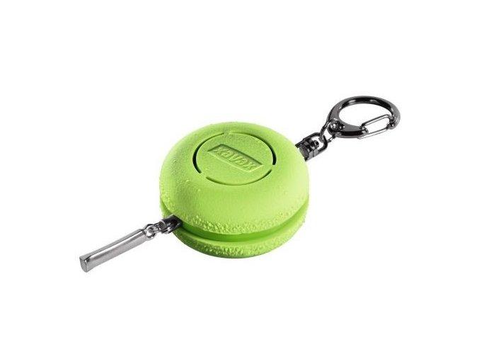 Osobní alarm Xavax Makronka s kroužkem na klíče, zelený