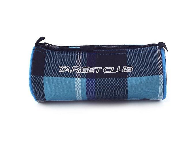 Školní penál Target modro/černé kostky