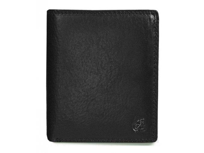 """Cosset Komodo pánská kožená černá peněženka """"na výšku"""""""