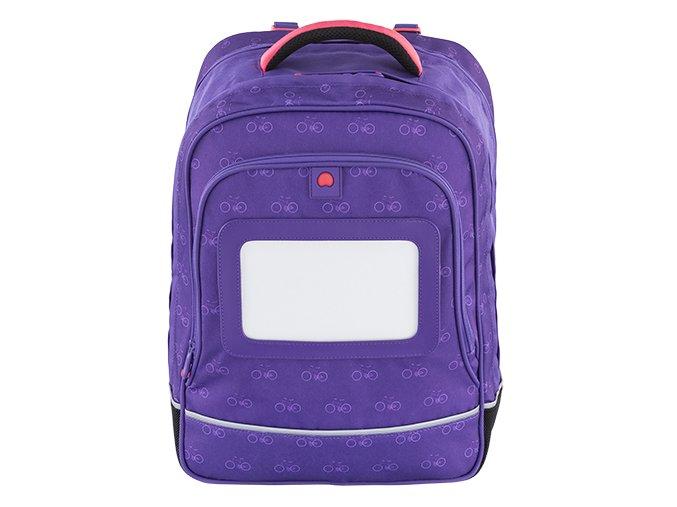 Školní dvoukomorový batoh Delsey Purple