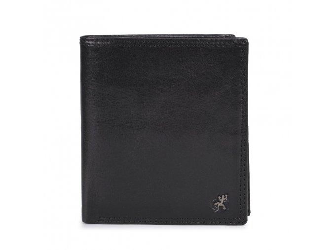 """Pánská kožená černá peněženka """"na výšku"""" Cosset Komodo"""