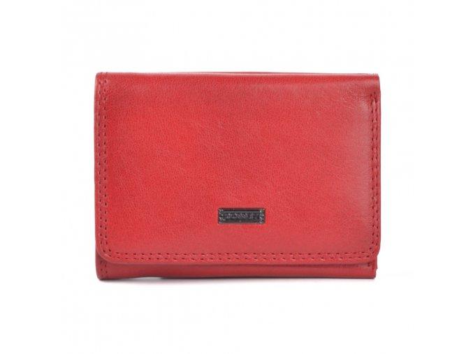 Dámská červená kožená peněženka Cosset Flamengo 4509
