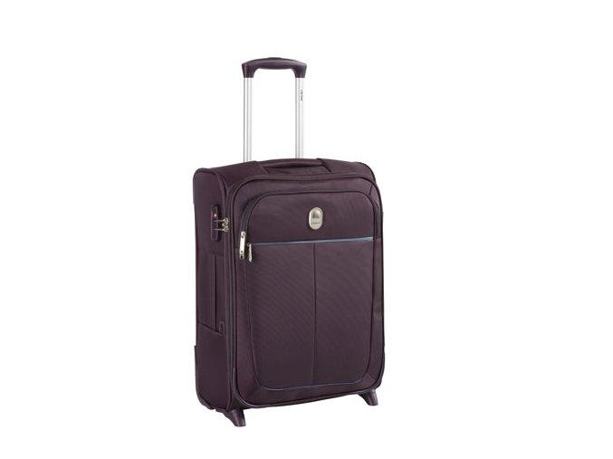 Kabinový SLIM kufr 55cm 2kol Delsey Caleo fialový