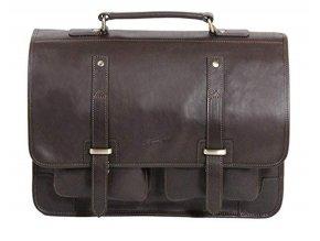 Pánská jednokomorová kožená taška na PC Gerard Henon 5325 hnědá