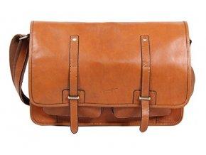 Jednokomorová kožená taška na tablet Gerard Henon 5352 gold