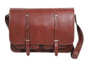 Jednokomorová kožená taška na tablet Gerard Henon 5352 marron