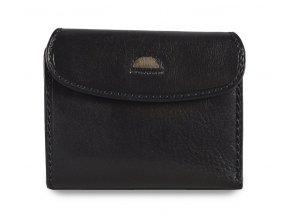 Cosset Classic dámská černá kožená peněženka s vnější zápinkou