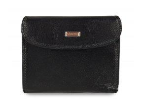 Cosset Tango dámská černá kožená peněženka s vnější zápinkou