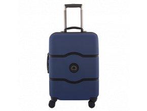 Delsey Chatelet Hard+ slim kufr 55 cm modrý