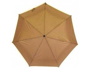 Deštník skládací manuální, hnědá