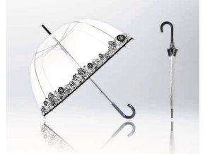 """Deštník průhledný holový """"květy"""""""