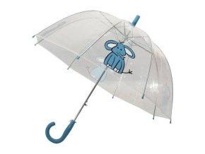 Dětský průhledný deštník se vzorem slůně, luminiscenční lem