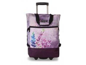 Nákupní taška Punta wheel print violet