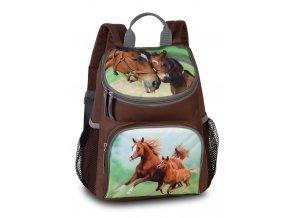 Fabrizio dětský batůžek hnědý - kůň