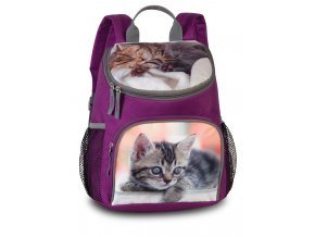 Dětský batůžek na výlety violet + koťátko