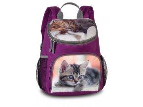 Fabrizio dětský batůžek na výlety violet + koťátko