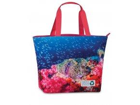 Fabrizio plážová taška Recycled růžová 50362-2200