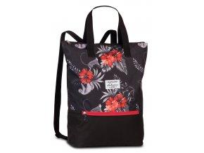 Plážový batoh Fabrizio černý tropical