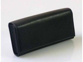 Peněženka kasírka kožená černá