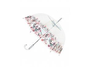 parapluie transparent cloche floral