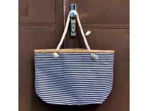 Plážová  taška New Berry pruhovaná černobílá