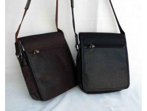 Taška crossbody textil + kůže 51205 černá