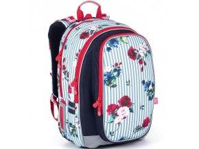 Skolni batoh Topgal pruhovany s ruzemi MIRA 21008 1 1