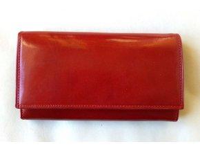 Peněženka kožená červená