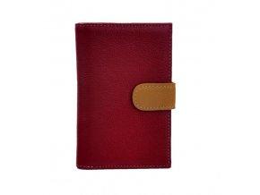 Dámská peněženka červená + multicolor
