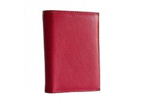 Dámská peněženka/dokladovka kožená - fuchsia